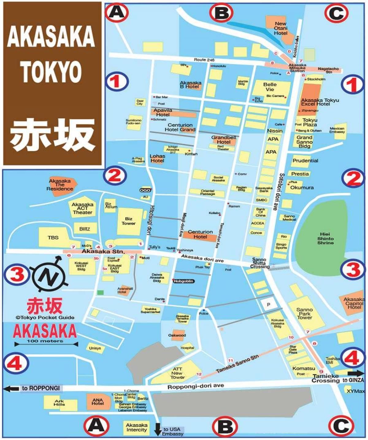 japon tokyo carte